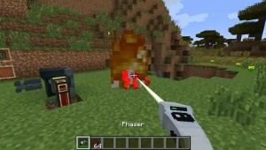 Phaser Setting Spider on Fire